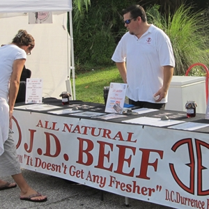 JD Beef at Farmers Market