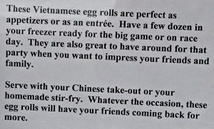 Unbelievable Egg Rolls are awesome