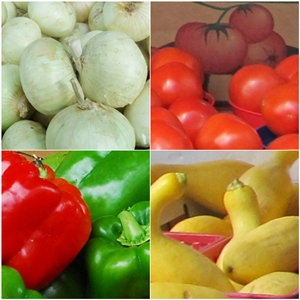 STOP Squash, Tomatoes, Onions and Peppers